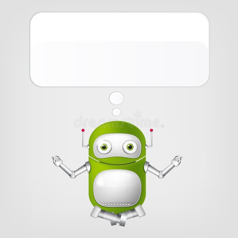 Robot mignon illustration stock