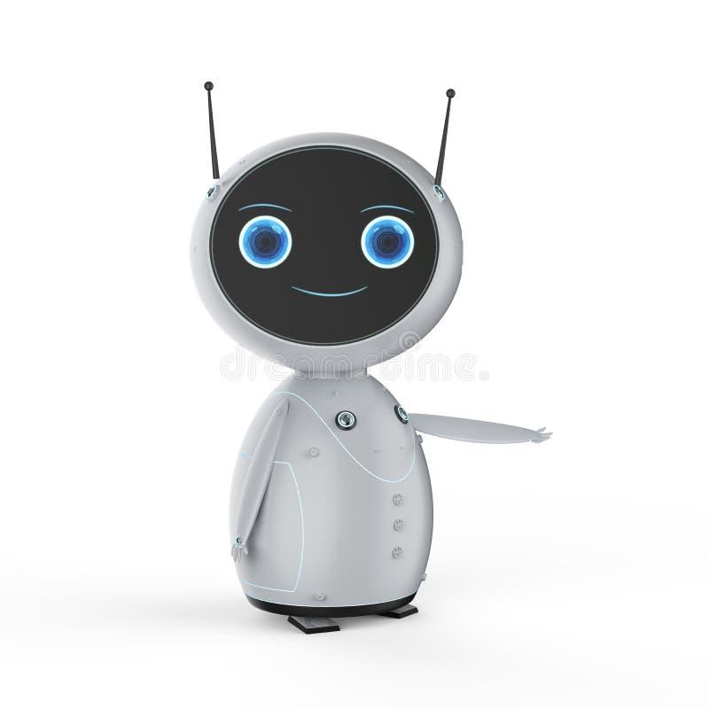 Robot mignon d'intelligence artificielle