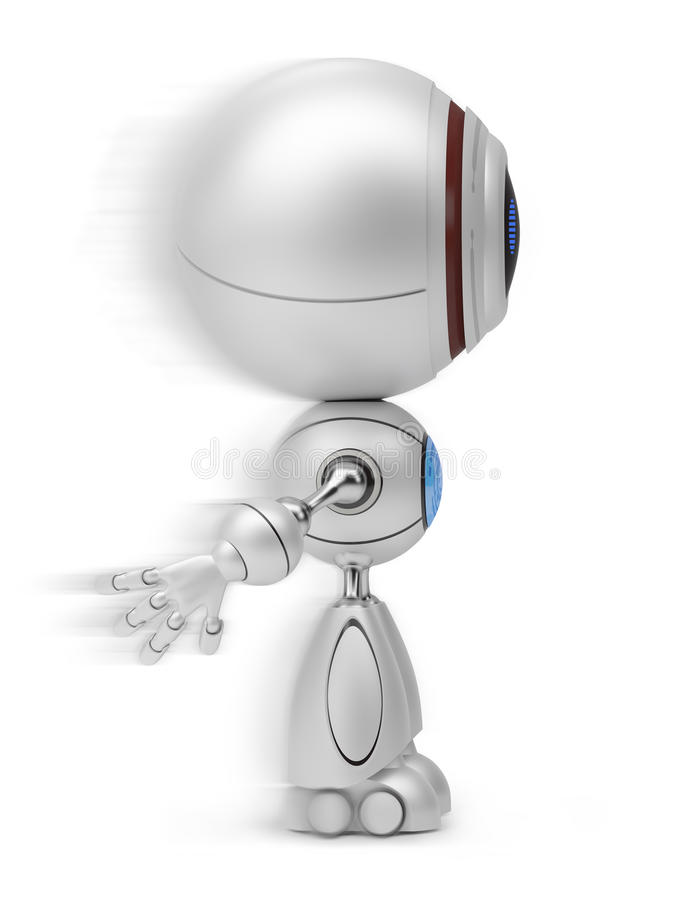 Robot in motion royalty free illustration