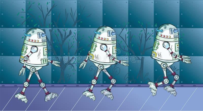Robot movement royalty free illustration