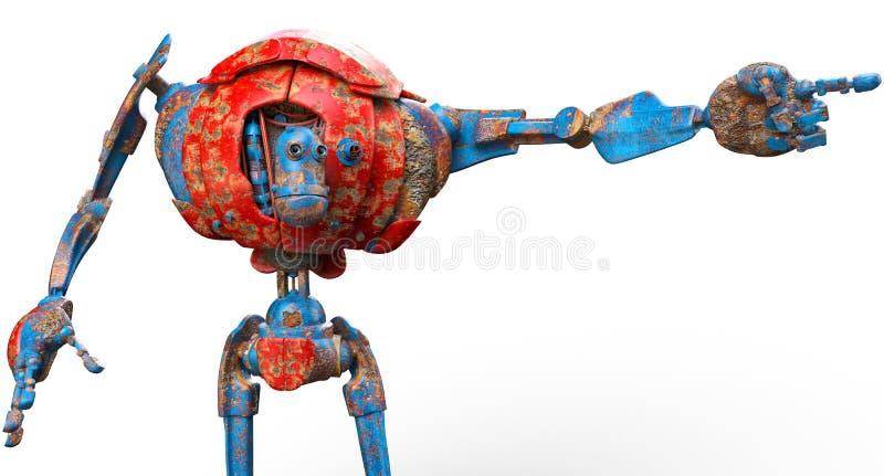 Robot muy viejo que manera ilustración del vector