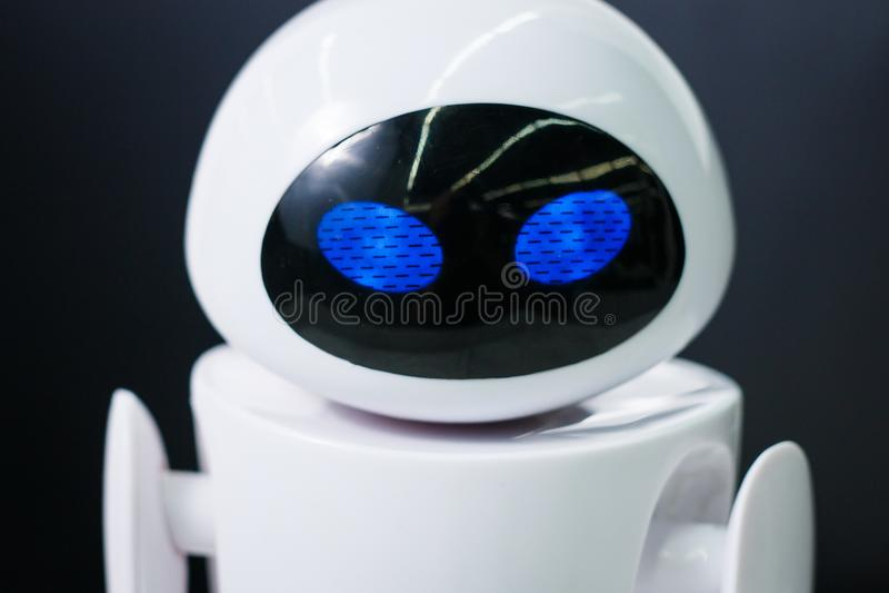 Robot na exhebition mieście roboty obrazy stock