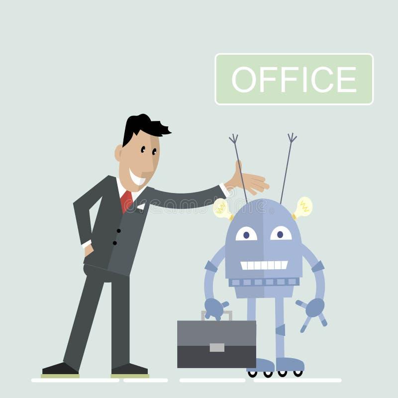 Robot Office businessman stock illustration