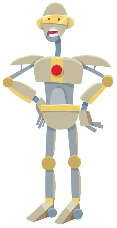 Robot ou personnage de dessin animé de droid illustration stock