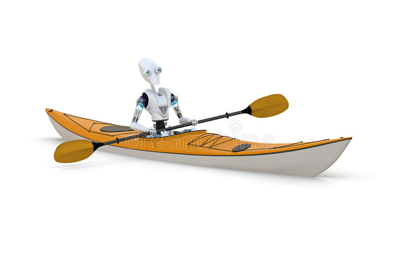 Robot Paddler stock photography