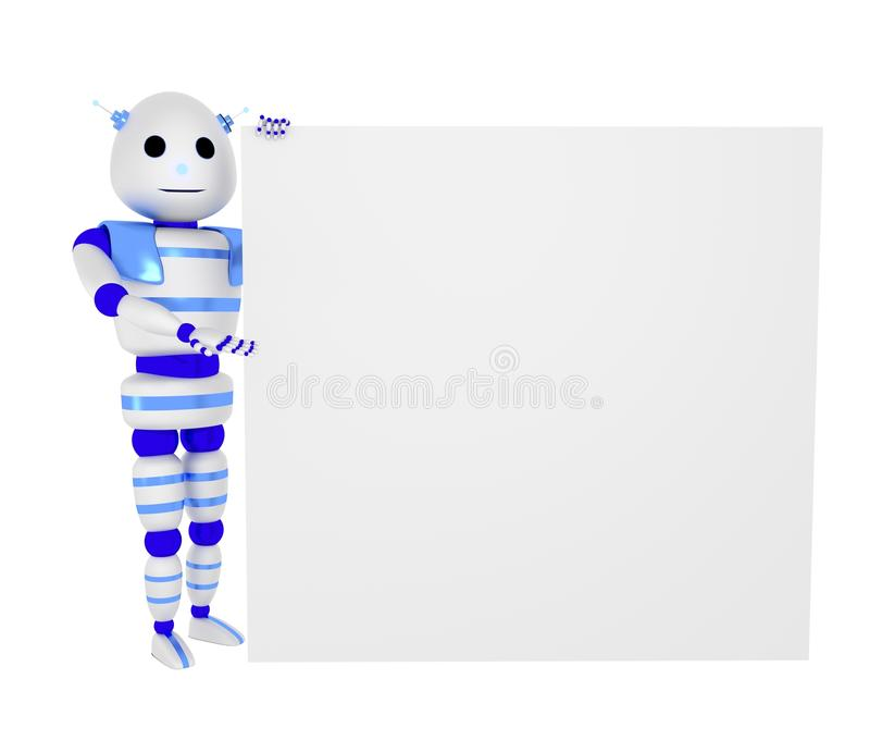 Download Robot With Panel Royalty Free Stock Images - Image: 26915779