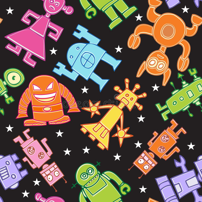 Robot Pattern Stock Images