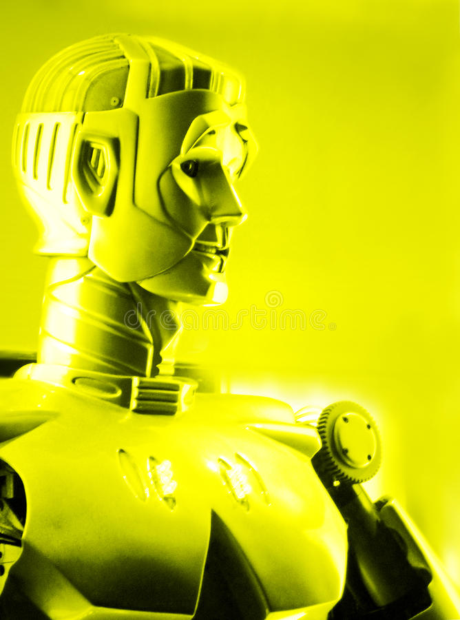 Robot person - artificial intelligence stock image