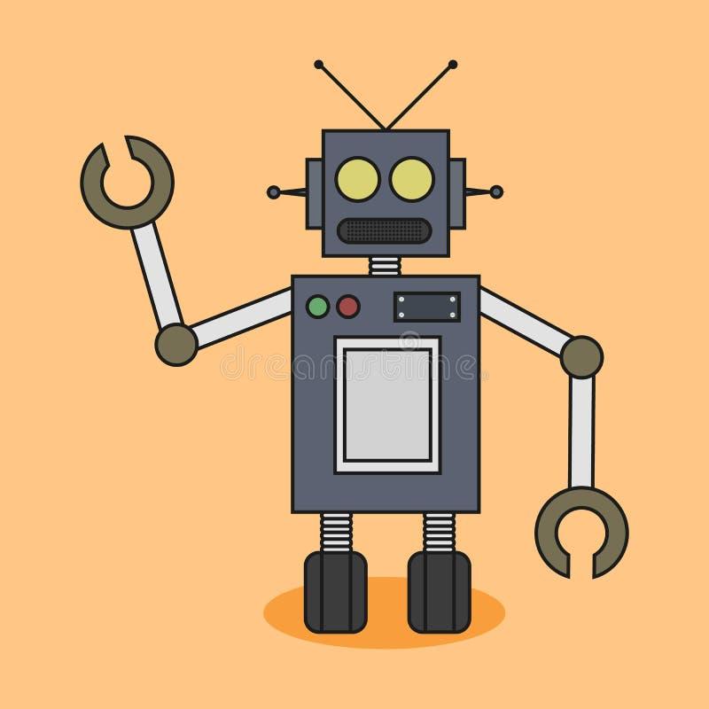 Robot piano di progettazione fotografia stock