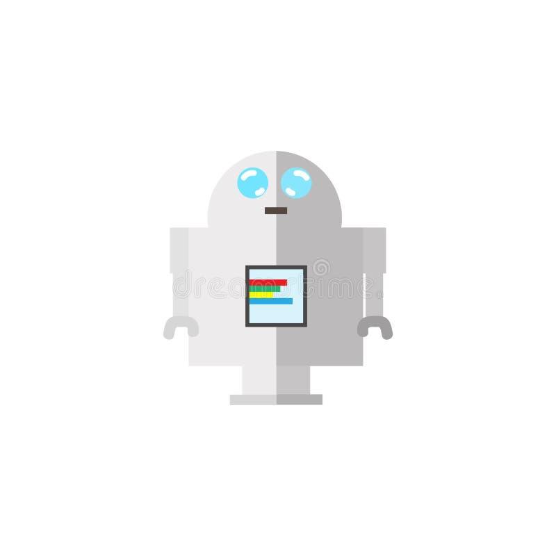 Robot plan design som isoleras på vit bakgrundsvektorillustrat stock illustrationer