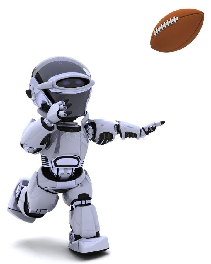 Download Robot Playing American Football Stock Illustration - Image: 18292243