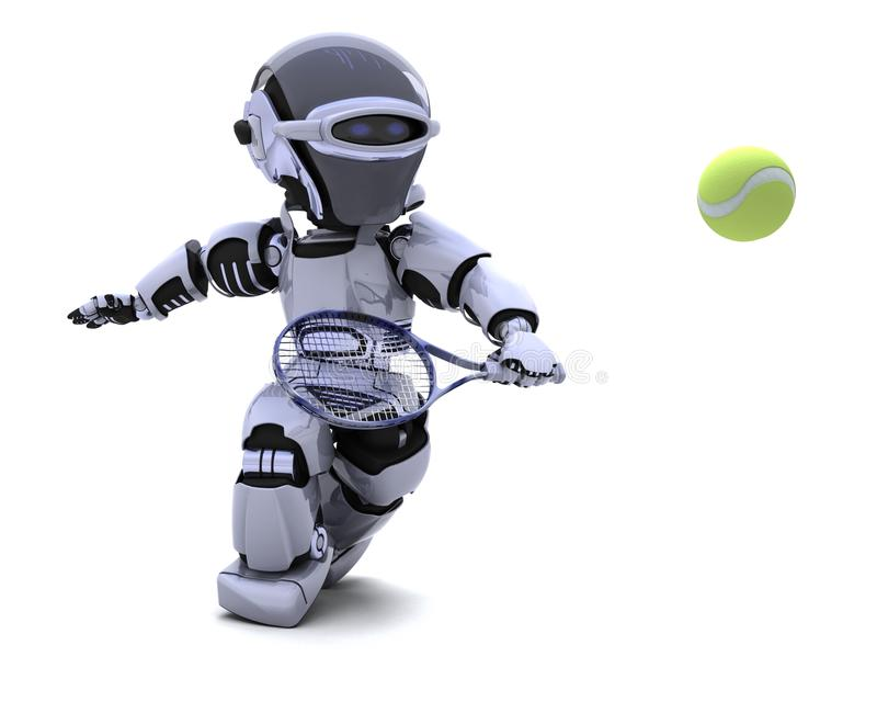 Download Robot Playing Tennis Royalty Free Stock Photography - Image: 17827407