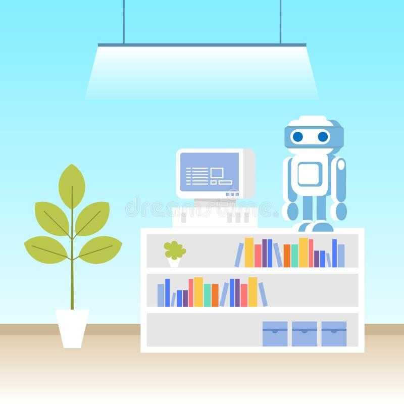 Robot Programming Lab. Machine Science Technology stock illustration