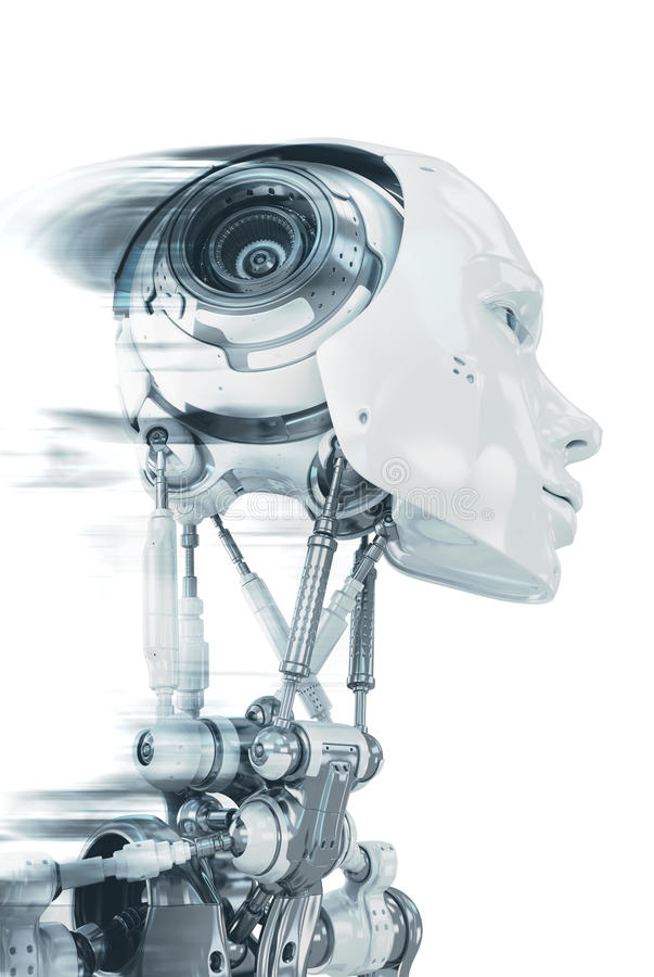 Robot in progresso immagine stock libera da diritti