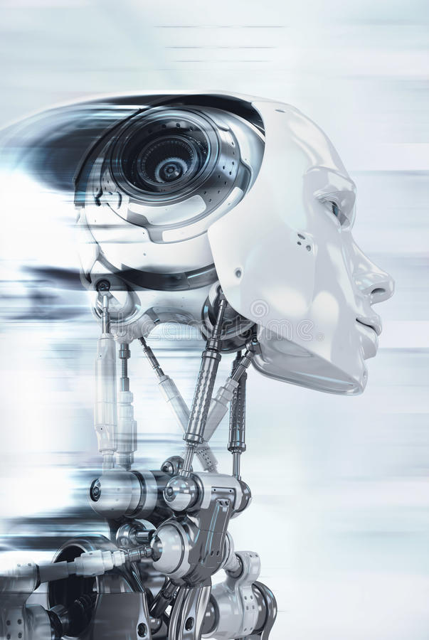 Robot in progresso fotografia stock