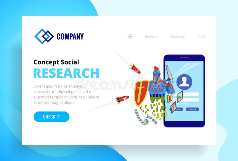 Robot protects the web site and viruses attacking him. Landing page template of security web site. Modern flat design. Concept of web page design for website vector illustration