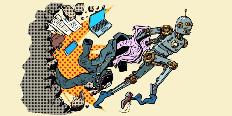 Robot przerwy z ludzkich stereotyp?w royalty ilustracja