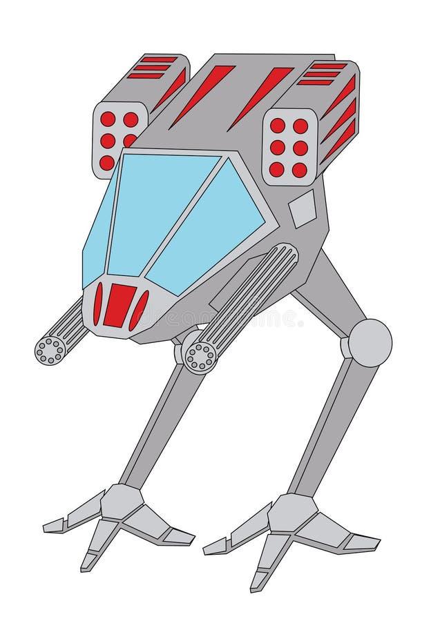 robot przestrzeni ilustracja wektor