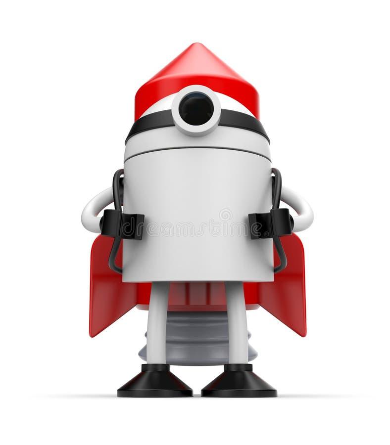 Robot przygotowywający zaczynać ilustracja wektor