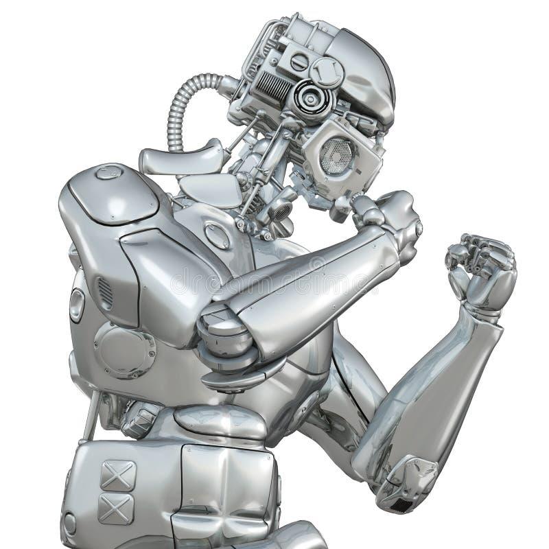Robot que lucha libre illustration