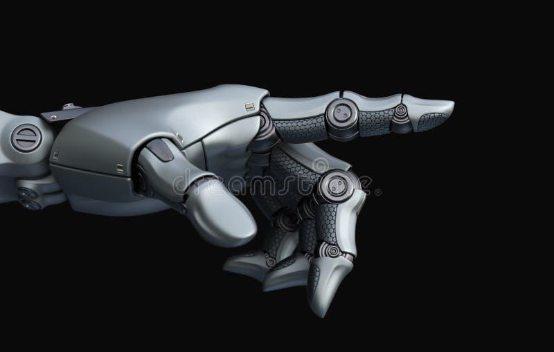 Robot ręka wskazuje ilustracji