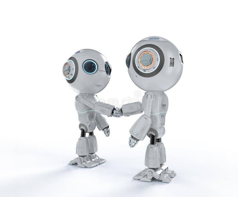 Robot ręki potrząśnięcie ilustracja wektor