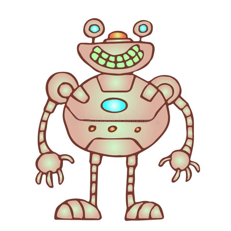Robot redondeado divertido Ilustración del vector stock de ilustración