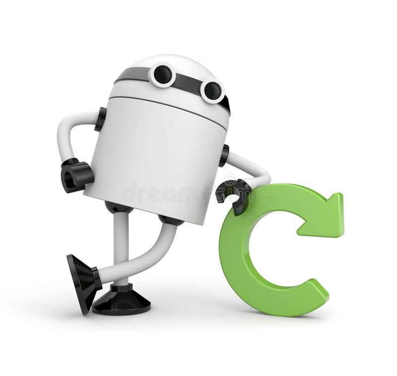 Robot with refresh icon