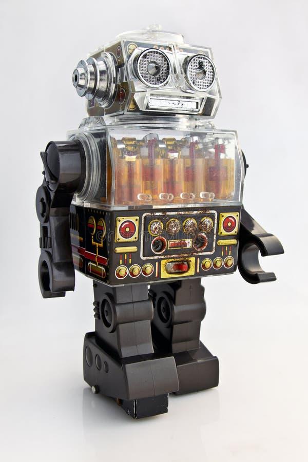 robot retro zabawka obrazy stock