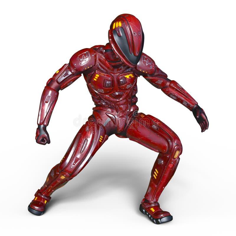 Robot rouge illustration stock