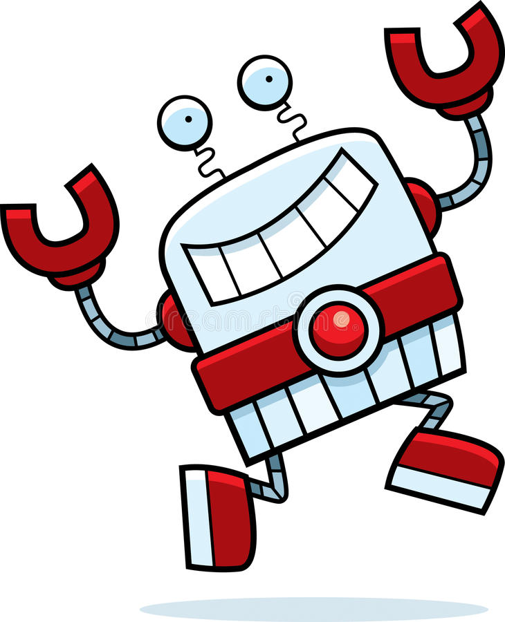 Download Robot Running stock vector. Image of robot, running, smiling - 15787746