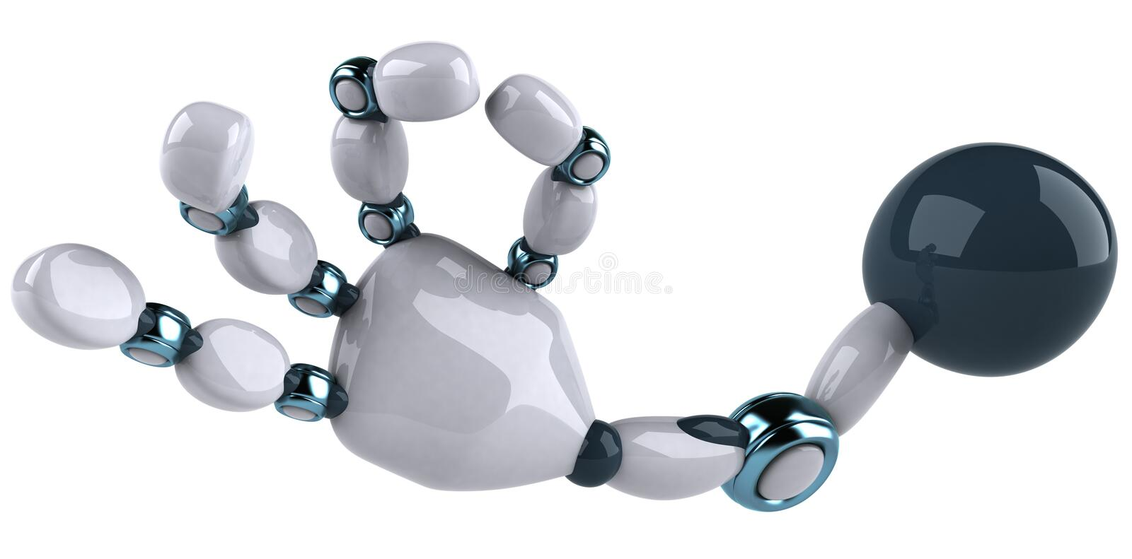 Robot's hand stock illustration