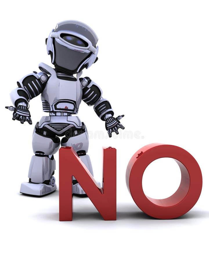 Robot sans le signe illustration libre de droits