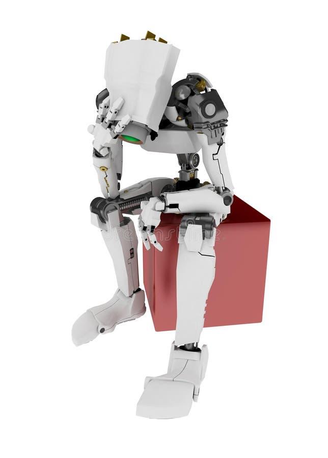 robot schudnięcia, royalty ilustracja