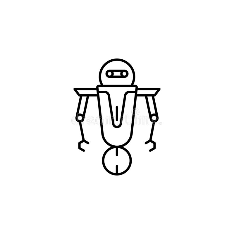 Robot, scout outline icon. Signs and symbols can be used for web, logo, mobile app, UI, UX vector illustration