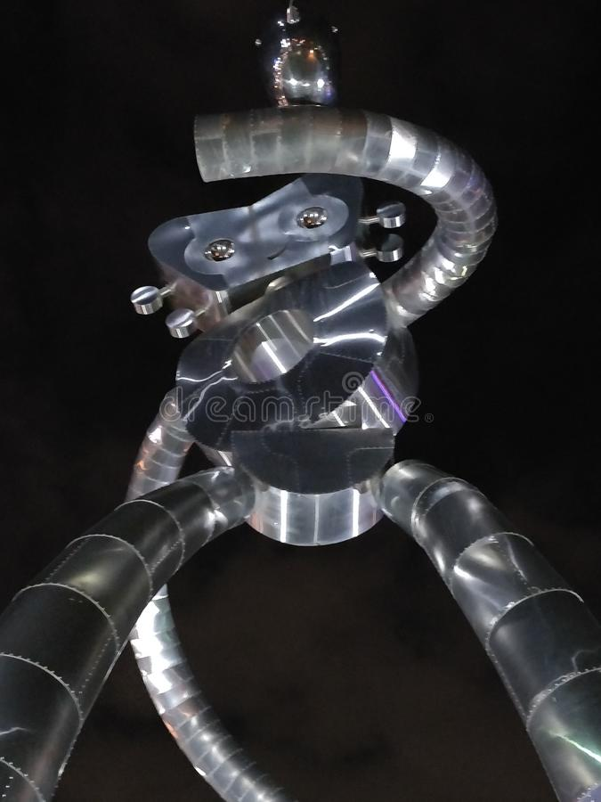 Robot sculpture photo royalty free stock images