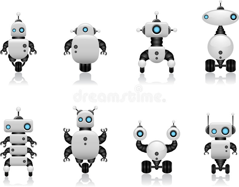 Robot set stock illustration
