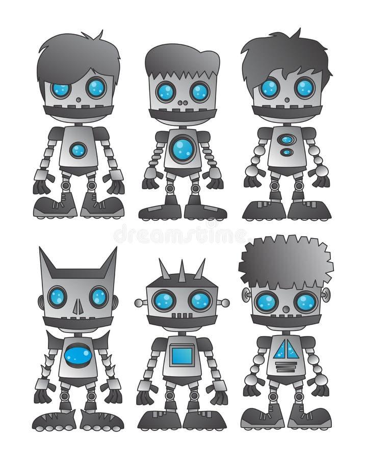 Robot set vector illustration