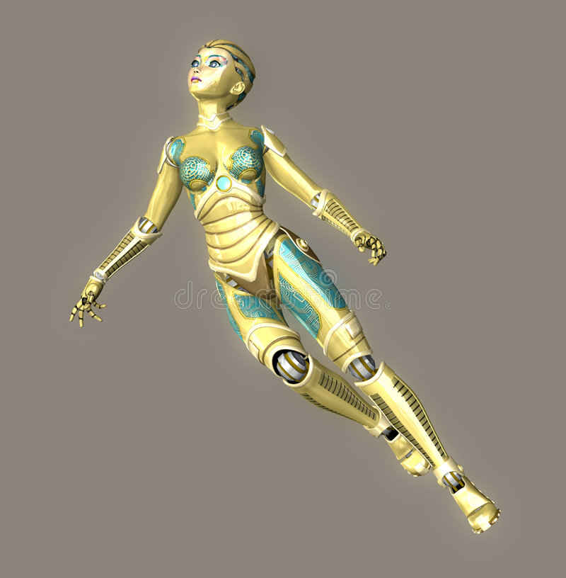 robot sexy royalty ilustracja
