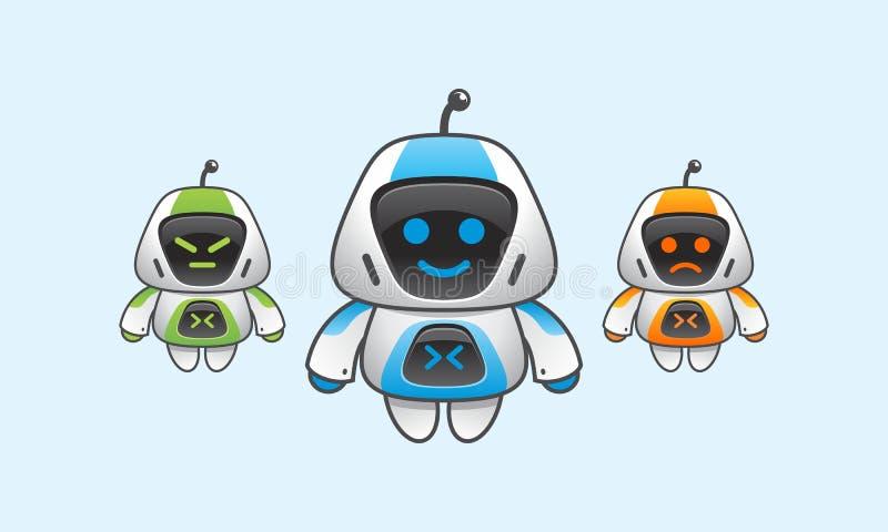 Robot simple avec l'expression de visage image libre de droits