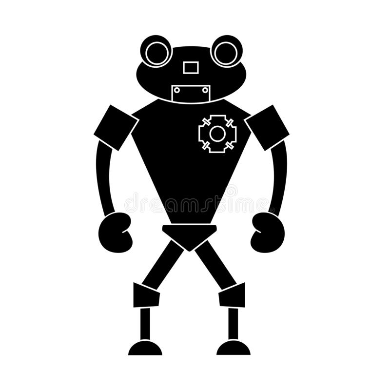 Robot simple character. Isolated vector illustration. Robot simple character. Isolated stock vector illustration stock illustration