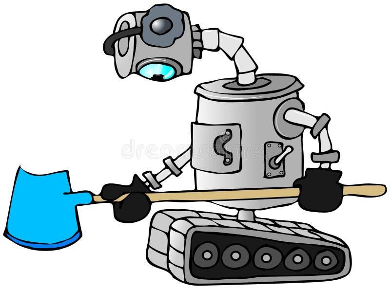 Robot snow shovel royalty free illustration