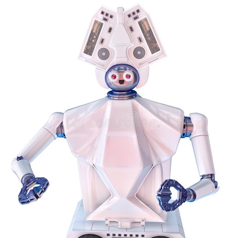 Robot social con la cabeza imágenes de archivo libres de regalías