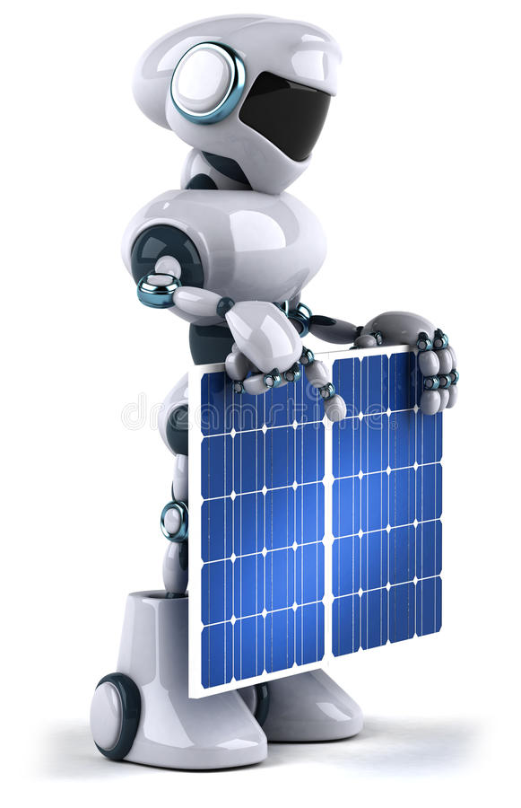 Download Robot and solar panel stock illustration. Image of generator - 16587526
