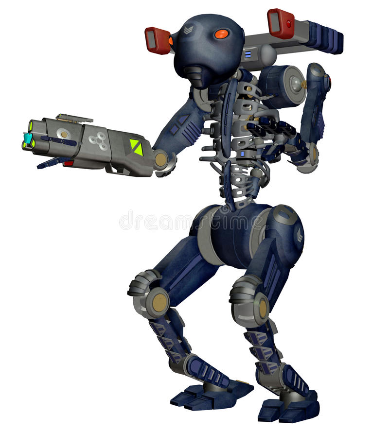 Download Robot soldier 1 stock illustration. Image of soldier - 16755700