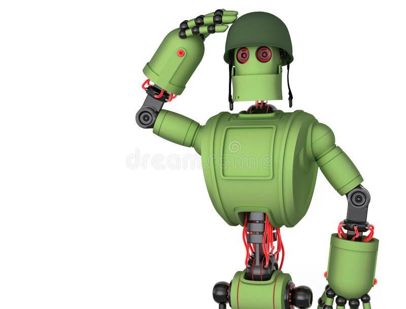 Robot soldier stock illustration
