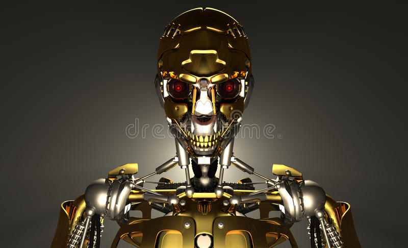 Robot Soldier Stock Photography