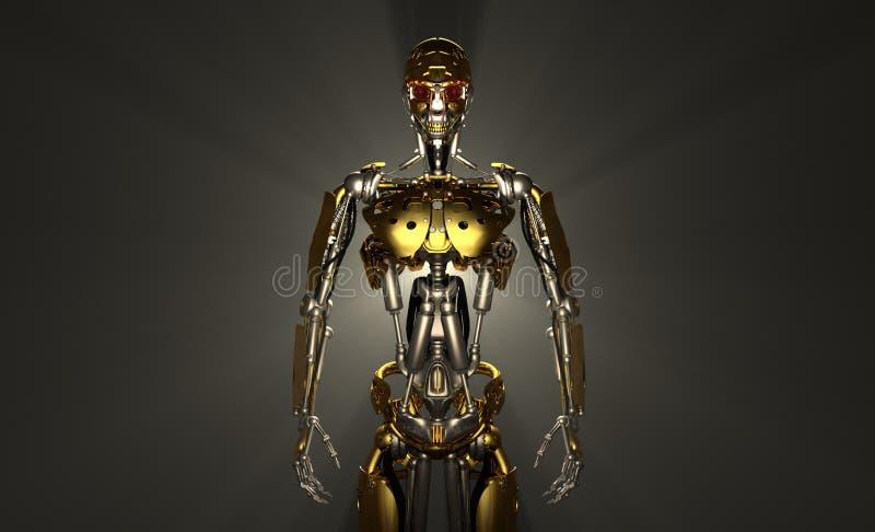 Download Robot soldier stock illustration. Image of droid, super - 26899224