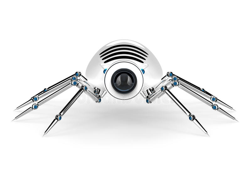 Robot Spider Android royalty free illustration