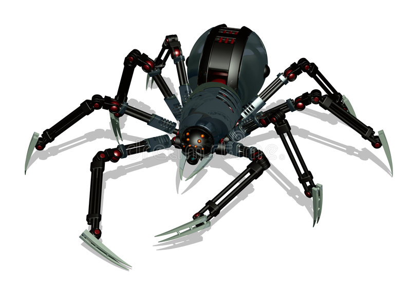 Download Robot Spider - With Clipping Path Stock Illustration - Image: 522069